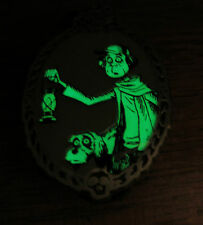 Disney Haunted Mansion Mystery Glow Pin Caretaker and Dog Cemetary