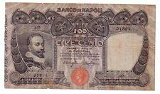 Italia Banco di Napoli 100 lire 23 2 1911 MB/BB  rif 614