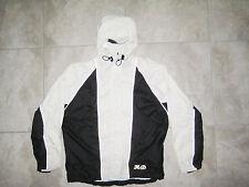 HARLEY DAVIDSON Motorcycle White Black Rain Jacket Coat Poncho SMALL S USED