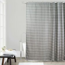 Geometric Shower Curtain Polyester Thick Bathroom Curtain Hooks Waterproof Home
