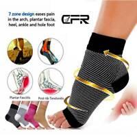 Elastic Ankle Brace Compression Socks Arch Foot Support Sleeve Plantar Fasciitis