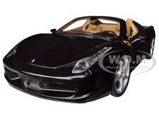 FERRARI 458 SPIDER F1 GLOSSY BLACK ELITE EDITION 1/18 MODEL CAR HOTWHEELS BCJ90