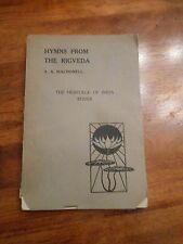 Hymns from the Rigveda by Arthur Anthony Macdonell. Original / vintage edition