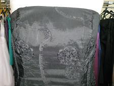 DEBUT DEBENHAMS BLACK APPLIQUE FLOWERS TAFFETA COCKTAIL/PROM/EVENING DRESS 10/12
