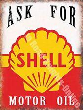 Motor Oil Vintage Petrol Garage Old Racing Advertising Medium Metal/Tin Sign