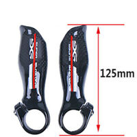 2pcs 3K Carbon Fiber Bar Ends Grip MTB Road Bike Handlebar Ergonomic End Bar