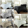 Luxury DUVET COVER ALFORD DESIGN Bedding Set Pintuck Single Double Super King