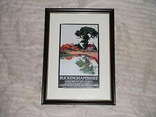 Buckinghamshire LNER Stations Travel Poster Ref 873