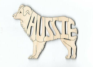 Australian Shepherd Aussie Dog laser cut wood Magnet