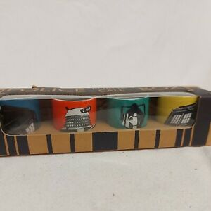 Doctor Who Egg Cup Set of four with Colourful Designs Batch DW104AW13 4 egg cups