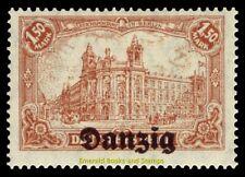 EBS DANZIG Freie Stadt Wolne Miasto Gdańsk 1920 1.50 Mark Michel 10 MH*