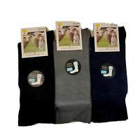 Mens Womens Merino Wool Blend Socks LOOSE TOP 11-14  Warm Thermal Heat Work