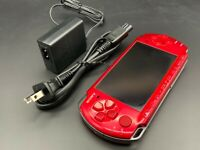 Sony PSP 3000 Launch Edition Radiant Red Handheld System Console + Charger