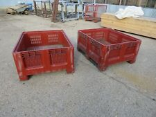More details for pair of stack able strong  plastic stillages