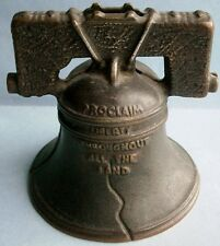 LIBERTY BELL Cast Iron Still Bank made in USA by Arcade Mfg. Co