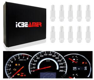 5 pairs LED T5 17 37 70 2721 White Light Bulbs for Dashboard Indicator Gauge U21