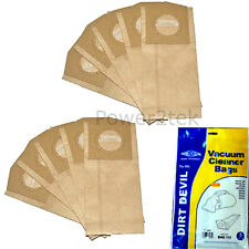 10 x G Dust Bags for Dirt Devil DD500 DD500Z DD550 Vacuum Cleaner