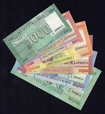 All same serial number 100000LL 50000 LL ... six bills FIRST TIME MATCHING Liban
