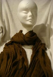 Soft Long cotton Scarf in brown