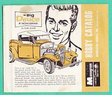 1960'S MONOGRAM MODEL KIT CATALOG  CARS  PLANES  BOATS  FREE SHIPPING IN THE USA