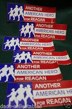 '84 Reagan CAMPAIGN BUMPER STICKER Another American Hero (Lot of 6)