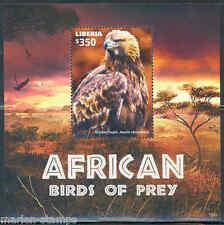 LIBERIA  2015 AFRICAN BIRDS OF PREY SOUVENIR SHEET  II  MINT NEVER HINGED