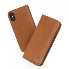 Moshi Overture Wallet Case for iPhone XS / X - Caramel Brown