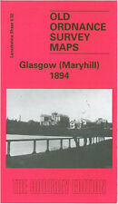 OLD ORDNANCE SURVEY MAP GLASGOW MARYHILL 1894
