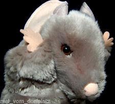 Maus Kuscheltier Stofftier Plüschtier Handpuppe Spieltier  grau 30 cm  NK69
