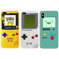 Game Pattern Slim Soft TPU Phone Back Case Cover For iPhone 5 5S 6 6S 7 8 Plus X