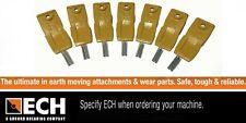 Genuine ECH 3-6TL Excavator Skid Steer Bucket Teeth Pack of 7 with Pins