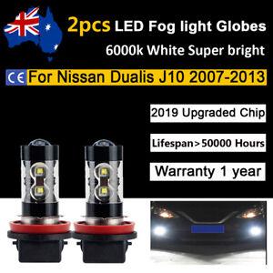 For Nissan Dualis J10 2011 2012 2013 Fog light Globes 8000lm White CREE LED Bulb