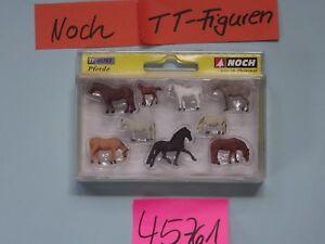 Noch TT Artikel 45761   verschiedene Pferde  Figurensatz    Neuware /OVP
