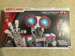 "NEW MECCANO TECH MECCANOID XL 2.0 PERSONAL ROBOT 4""FT STEM 1020 PARTS"