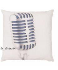 Microphone Pillow Cover Case 20x20 Music Decor Punk Rock Loft Studio IKEA GUNLÖG