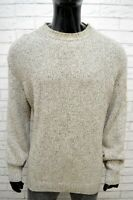 Maglione Uomo Murphy & Nye Taglia XL Pullover Sweater Lana Grigio Cardigan