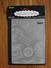 """Embossing Folder """"Travel Icon Background"""" By Darice New In Package Never Used"""