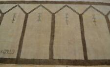 New listing 3'8 x 11'6 Distressed S Antique Turkish Oushak Handmade Wool Runner Prayer Rug