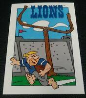 1993 CARDZ Team NFL The Flintstones Detroit Lions Schedule football card