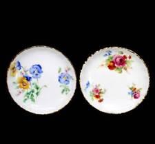 Vintage white floral round Royal Doulton pretty pin dishes