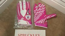 NIKE VAPOR JET SYNTHETIC ADULT XL RECEIVER FOOTBALL GLOVES, NFL BCA PINK, NWT