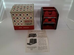 Vintage Metal  ARRCO Playing Card Shuffler  Hand Operated