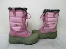 North Face Pink Winter Snow Insulated Lace Up Boots Youth Size 5