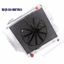 "3 Core Performance Radiator+16"" Fan fits 87-95 96-06 Jeep Wrangler TJ YJ I4 I6"