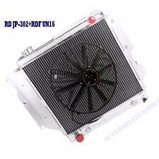 "3 Core Performance Radiator+16"" Fan fits 87-95 96-06 Jeep Wrangler TJ YJ I4 I6"