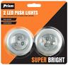2 x 3LED Push Light Touch Tap Stick On Bright Lighting Kitchen Cupboard Closet