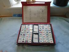 Vintage Panaga Club Cased  Chinese Game  Mahjong 144 Tiles 4 dice