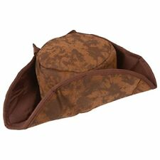 Brown Pirate Hat Fancy Dress Accessory Jack Sparrow Caribbean Swashbuckle
