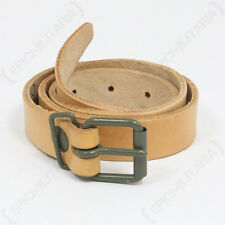 CZECH ARMY LEATHER Utility STRAP - Repro Military Zeltbahns Utility Buckle Brown