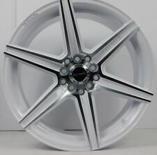 "17x8"" 5x100 Wheels Rims fits Chevy - Set of 4 - Machined White - NEW!"